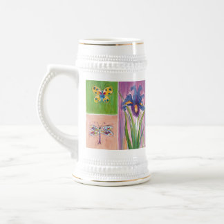 Garden-Friendly Floral panel Stein