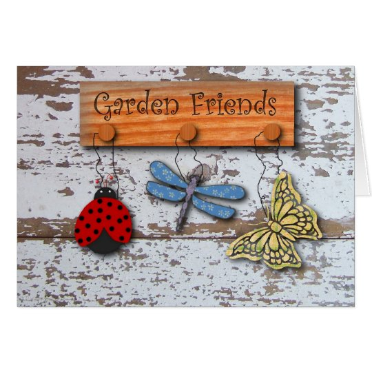 Garden Friends Birthday Card