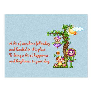 Garden Friends Pixel Art Postcard