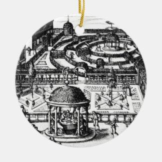 Garden, from 'Hortum Viridariorumque Elegantes et Christmas Ornament