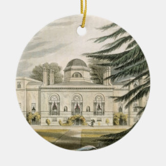 Garden front of Chiswick House (colour engraving) Christmas Tree Ornament
