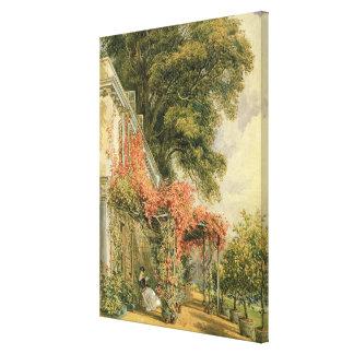 Garden Front of Mr. Robert Vernon's House Canvas Print