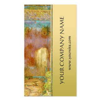 Garden Gate in Turquoise, Gold, and Green Pack Of Standard Business Cards