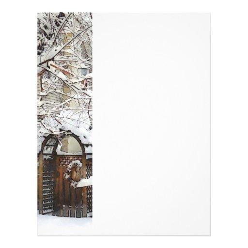 Garden Gate in Winter Personalized Flyer