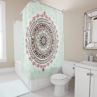Garden Gem Mandala Shower Curtain