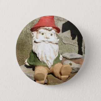 Garden Gnome 6 Cm Round Badge