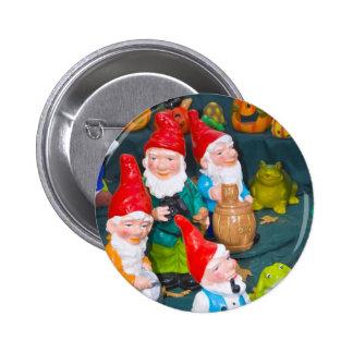 Garden gnome 6 cm round badge