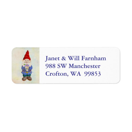 Garden Gnome address label