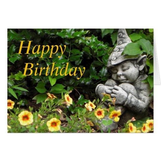 Garden Gnome Happy Birthday Card
