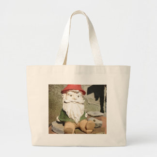 Garden Gnome Large Tote Bag