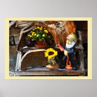 Garden gnome poster