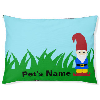 Garden Gnome with Name Pet Bed