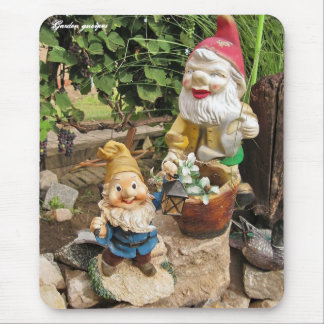 Garden gnomes mouse mat
