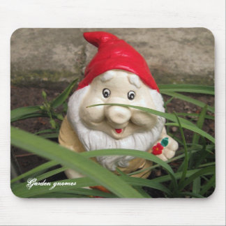 Garden gnomes mouse pads
