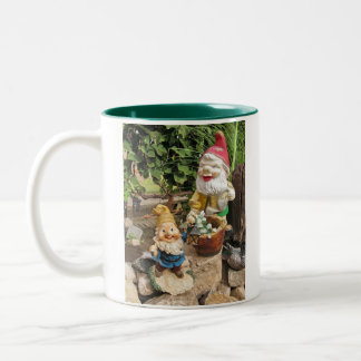 Garden gnomes Two-Tone mug