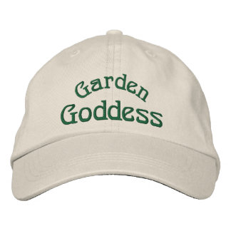 Garden Goddess Funny Embroidered Hat