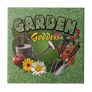 Garden Goddess Small Square Tile