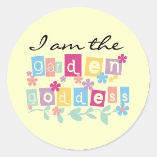 Garden Goddess Tshirts and Gifts Classic Round Sticker