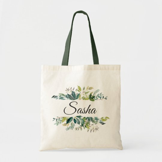 Garden Greenery Bouquet Personalised Tote Bag