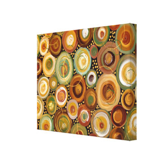 Garden Greens Abstract  Art Painting Stretched Canvas Print