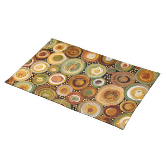 Garden Greens Abstract  Art Painting Placemat