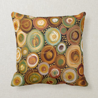 Garden Greens Abstract  Art Painting Throw Cushion