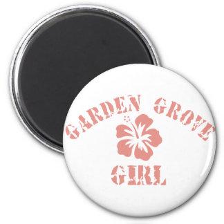 Garden Grove Pink Girl Fridge Magnet