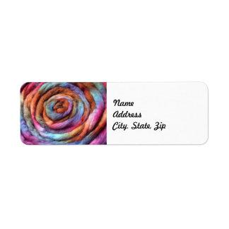 Garden Hand Dyed Roving Label Return Address Label