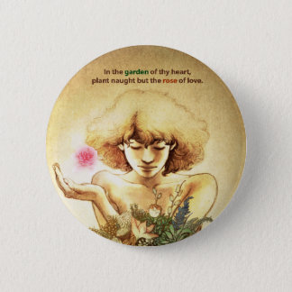Garden Heart 6 Cm Round Badge