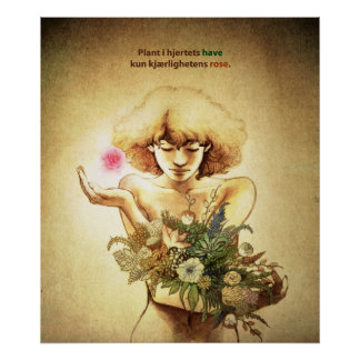 Garden Heart (Norwegian) Poster