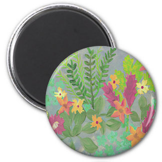 garden herbs and flowers painted magnet