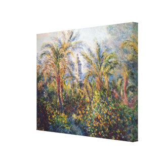 Garden in Bordighera Stretched Canvas Print