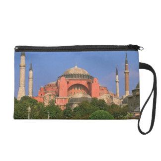 Garden in front of a museum, Aya Sofya Wristlet Purse