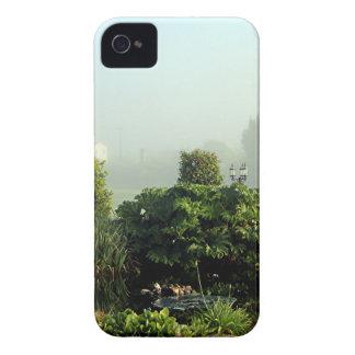 Garden in mist, Arzua, Spain iPhone 4 Case