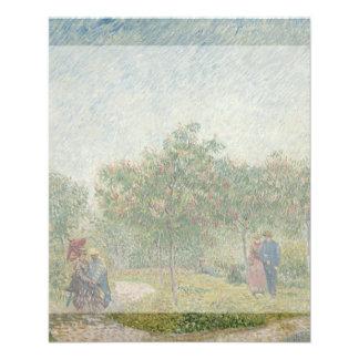 Garden in Montmartre with Lovers by Van Gogh 11.5 Cm X 14 Cm Flyer