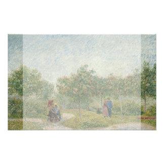 Garden in Montmartre with Lovers by Van Gogh 14 Cm X 21.5 Cm Flyer