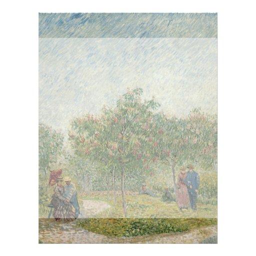 Garden in Montmartre with Lovers by Van Gogh Custom Flyer