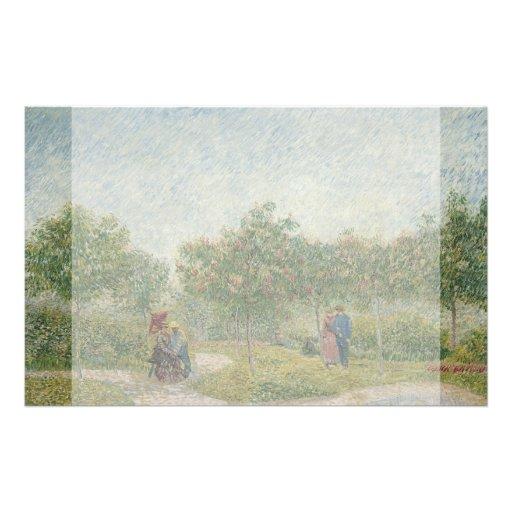 Garden in Montmartre with Lovers by Van Gogh Flyers