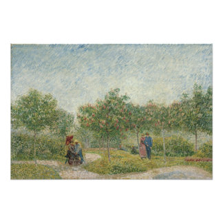 Garden in Montmartre with Lovers by Van Gogh Photograph