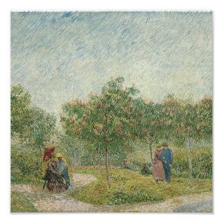 Garden in Montmartre with lovers Photo Art
