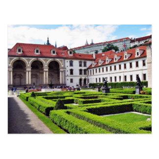 Garden In Prague Postcard