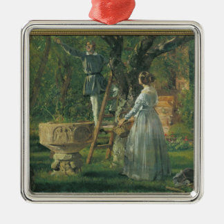 Garden in Ringsted with a Ancient Baptismal Christmas Ornament