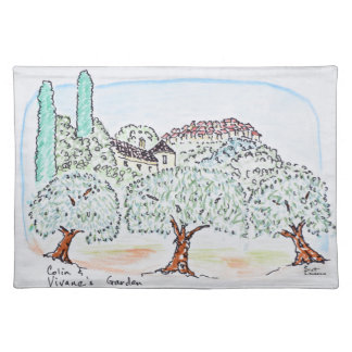 Garden in Speracedes, Cabris | South of France Placemat