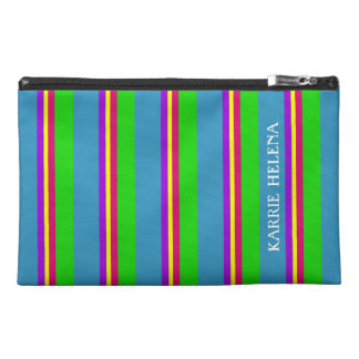 Garden in Spring Palette Stripe Personalized Travel Accessories Bags