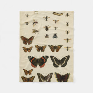 Garden Insects by Vision Studio Fleece Blanket
