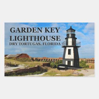 Garden Key Lighthouse, Dry Tortugas Florida Rectangular Sticker