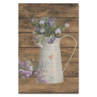 garden lavender rustic country barn wood tissue paper