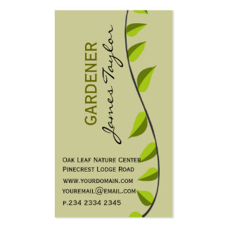 Garden Leaf Gardening   Green Double-Sided Standard Business Cards (Pack Of 100)