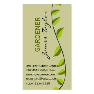 Garden Leaf Gardening Green Business Card Template