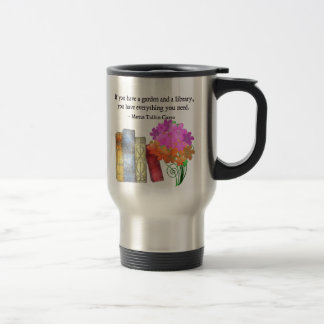 GARDEN & LIBRARY STAINLESS STEEL TRAVEL MUG